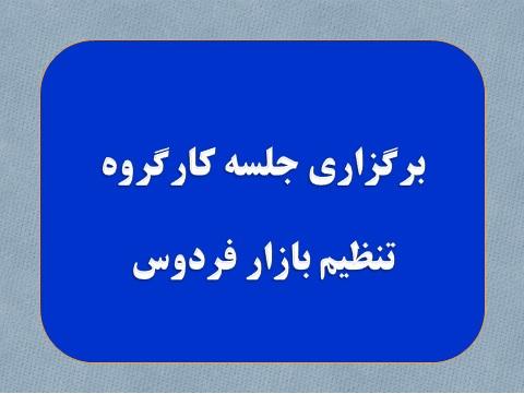 برگزاری سیزدهمین جلسه کارگروه تنظیم بازار شهرستان فردوس