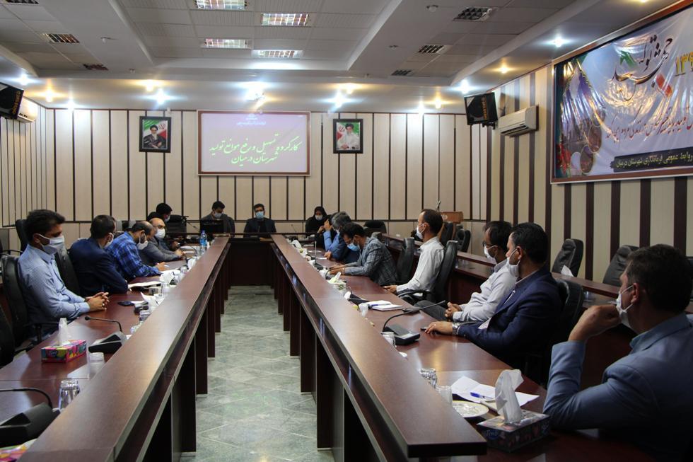برگزاری جلسه کارگروه تسهیل و رفع موانع تولید شهرستان درمیان