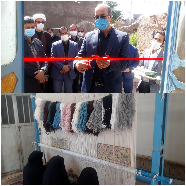 افتتاح کارگاه تولیدی فرش دستباف تعاونی گلچین در شهرستان فردوس