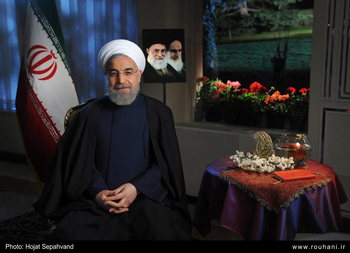 متن پیام نوروزی حجت الاسلام و المسلمین دکتر حسن روحانی در سال 94